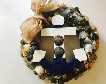 Shell Wreath, Seashell Wreath, Sea Shell Wreath, Coastal Decor, Beach Decor, Nautical Decor, Beach House Decor, Beach House Gift