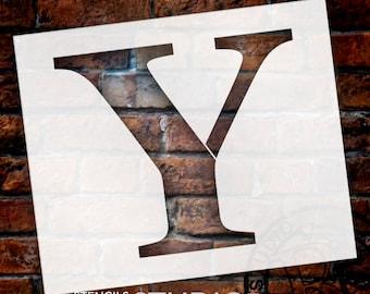 Y -Monogram Letter Stencil - Select Size - STCL1738 - by StudioR12