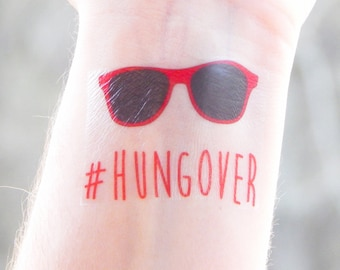Hangover Kit Party Favors - Bachelorette Party Favor - Hangover Survival - Hungover / Hangover Temporary Tattoo