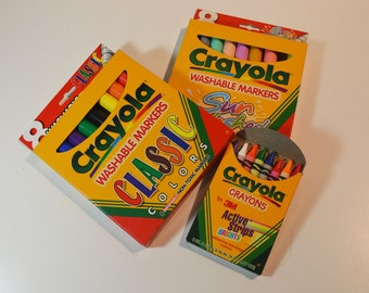 1997 Binney & Smith Crayola Classic Markers (2 Markers Boxes Only)