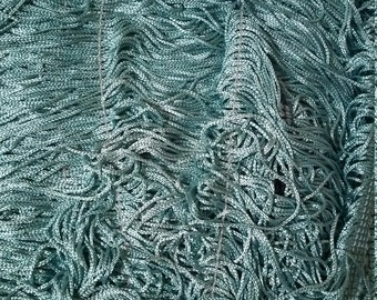 "Turquoise  10"" fringe fabric sold by the yard - Free Shipping"