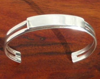 Taxco Sterling Silver Cuff Bracelet, Mexico