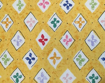 Fun Whimsical Fabric - Diamond Yellow, White, Lavender, Pink, Red, Light Green Upholstery Fabric By The Yard- Geometric