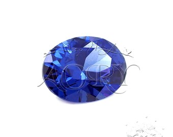 1pcs AAAAA 8x6mm Dark Tanzanite Cubic Zirconia, Diamond Cut, Oval Shape, Thickness 3.8mm, Faceted CZ, Brilliant/Diamond Cut, Purple Blue CZ