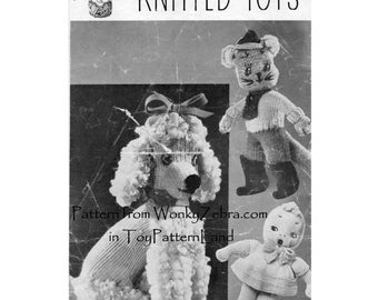 399 Puss in Boots Vintage Toy Knitting Pattern PDF from ToyPatternLand by WonkyZebra