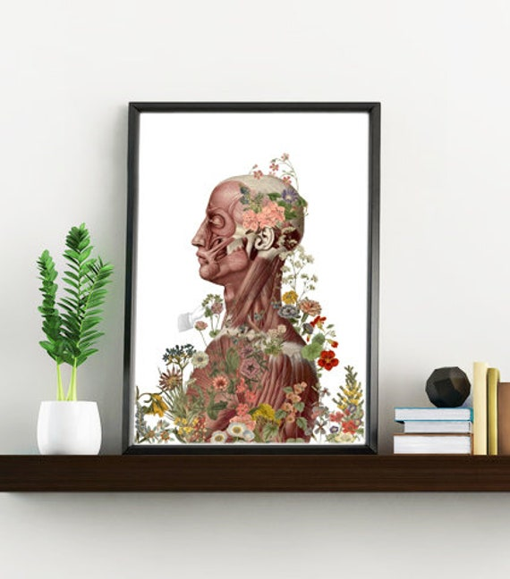 Nature is on me, Anatomy art, Anatomical art, Wall art, Wall decor, Anatomy, Medical gift, Wholesale, Gift for doctor, Science art SKA144WA4
