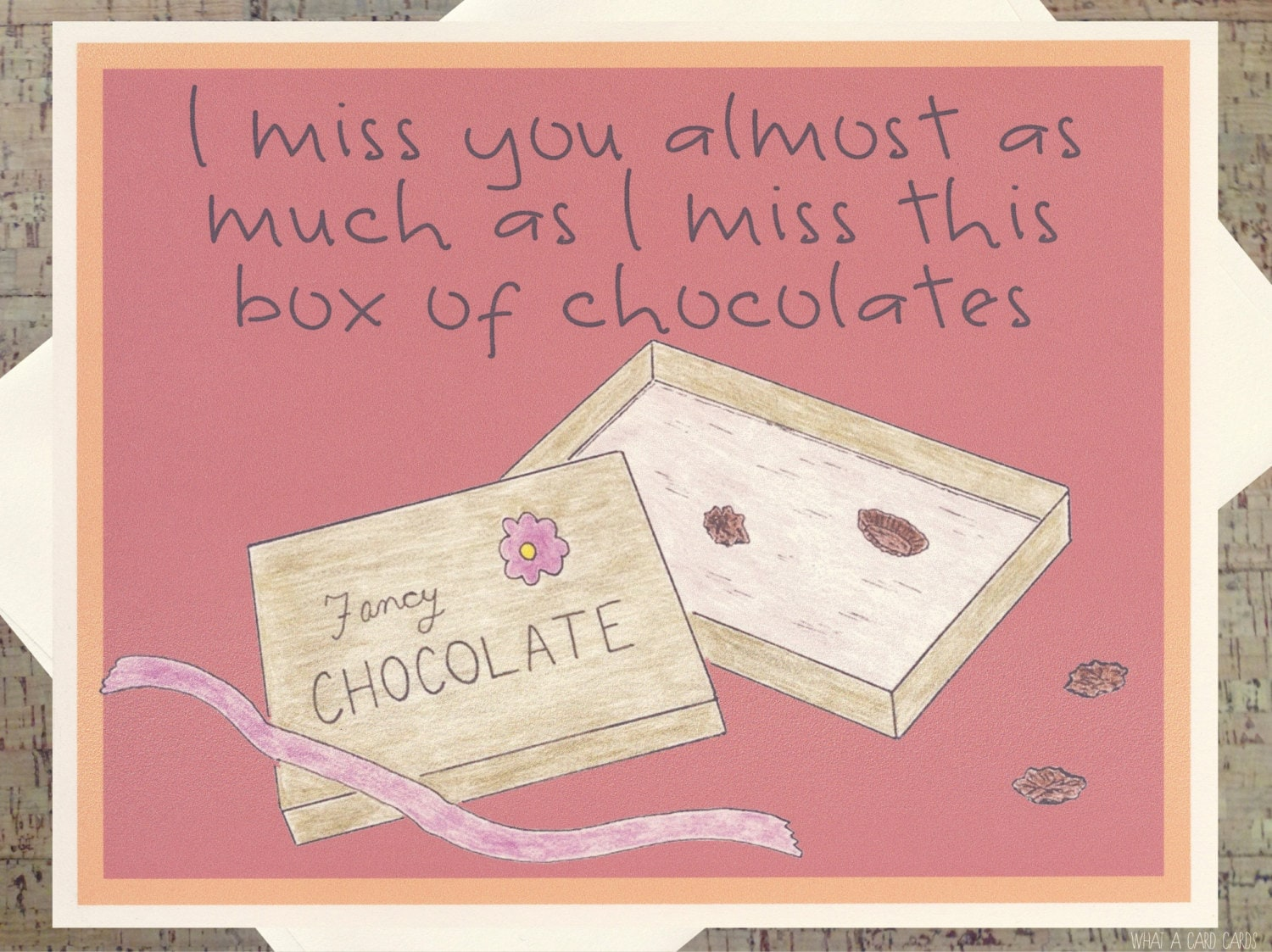 Funny Thinking Of You Card Miss You Card Chocolate Card