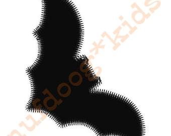 BAT Halloween Machine Embroidery Applique Holiday design 3 sizes