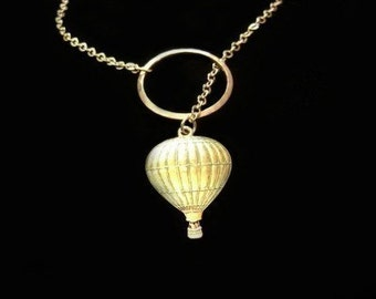 Through the Clouds - Hot Air Balloon Necklace