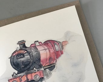 Illustrated Hogwarts Express Train Harry Potter Greetings Card Birthday Thank You 2018
