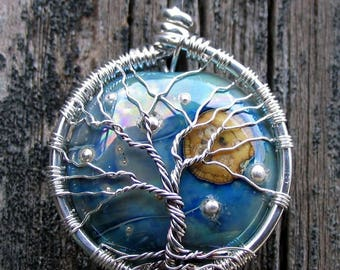 Moonlit Tree of Life Pendant