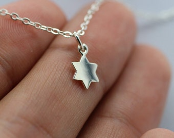 STAR OF DAVID Necklace - 925 Sterling Silver Charm Jewish Faith Holiday Hebrew