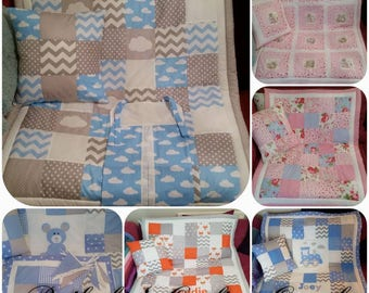 Patchwork personalised Cot Bed Quilts