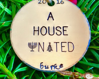 Interfaith Christmas Ornaments/Hanukkah Decorations/Jewish Christmas Ornaments/A House United©/Interfaith Ornaments/Jewish Ornaments