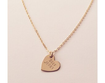 Beef Jerky Heart Charm Necklace