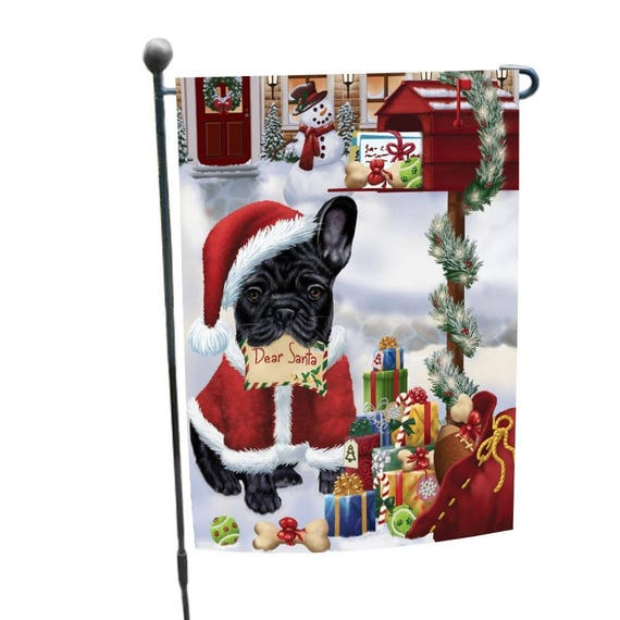 French bulldogs dear santa letter christmas holiday mailbox spiritdancerdesigns Images