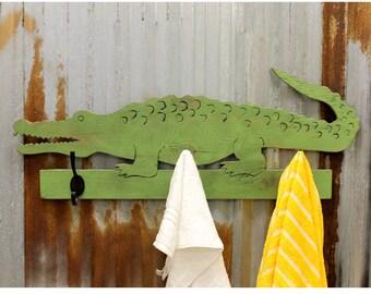 Alligator Towel Hook Wooden Kids Bathroom Hook Coat Hook