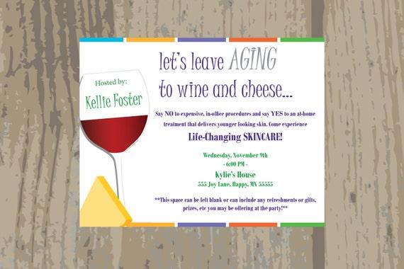 Rodan and Fields Launch Party Invitation Rodan Fields Wine