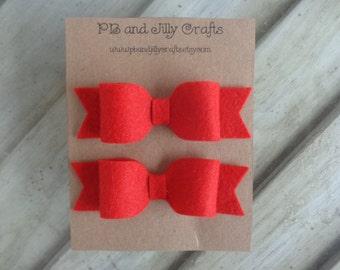 Red Felt Bows