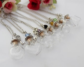 Glass orb pendant etsy 1pc 20x20mm diy empty bottle necklacewish necklaceglass bottle wish necklacemake a wish glass orb pendantvial necklaces ggj gjn 015b mozeypictures Images