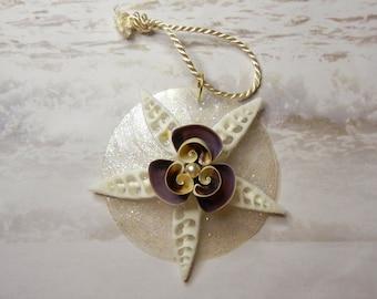 Seashell Wedding Favor or Holiday Ornament