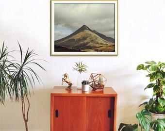 Scotland Photography, Large Wall Art, Mountain Art Print, Landscape Photography, Adventure, Mustard Yellow Decor,  Ben Dorain
