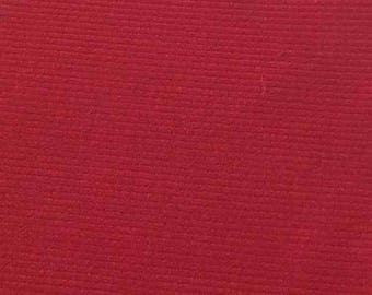 "SALE Flame  Featherwale Corduroy Fabric  --  44"" Wide"