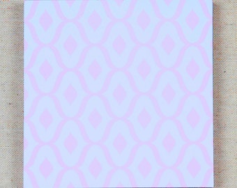 pink abstract notepad