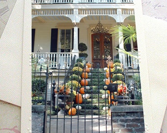 Charleston Photography, Charleston Autumn Fall Notecard, Charleston Note Cards, Charleston French Quarter, Charleston Autumn Fall Photograph