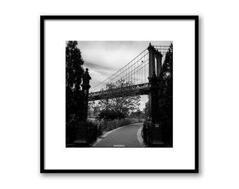New York City Manhattan Bridge, NY Manhattan Print, NYC Photography, New York Architecture, Wall decor NYC art