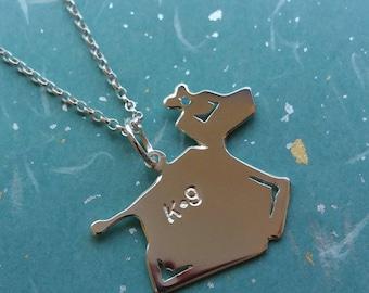 Handmade Doctor Who inspired K-9 geeky pendant