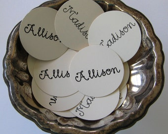 Personalized Tags Round Gift Tags Set of 10