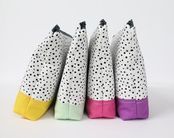 project bag -- speckled patchwork [CHOOSE YOUR COLOR!]