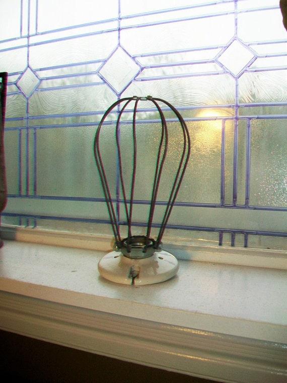 Industrial Light Fixture Wire Bulb Protector Farmhouse Decor Vintage Lighting