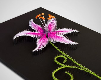 "String art ""The Stargazer Lily"" 