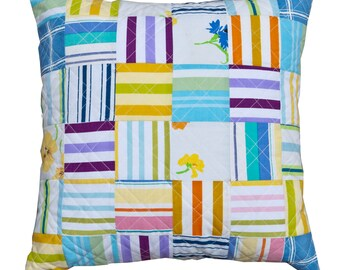 Vintage bedlinen quilted cushion
