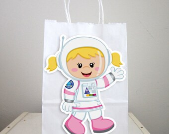 Space Party Goody Bags,  Girl Astronaut Goody Bags, Space Goody Bags, Space Favor Bags, Astronaut Favor Bags