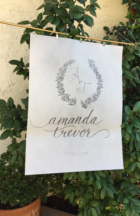 Custom and Personalized Vellum Wedding Sign