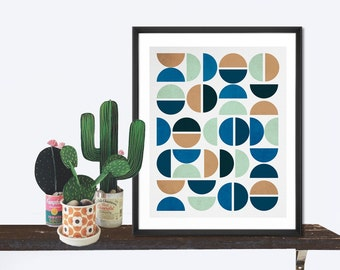 Abstract Print, Mid century modern, Scandinavian, Abstract art, Scandinavian print, Wall print, Modern art, Print art, Office