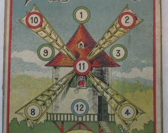 antique dexterity game puzzle with mill