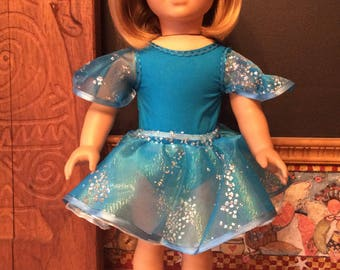 Ballerina in blue for an 18 inch doll such as American girl and the like size