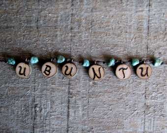 UBUNTU -  Wood Hand Made Necklace by Tanja Sova