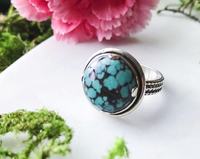 Featured listing image: Handmade Turquoise Ring Size 7