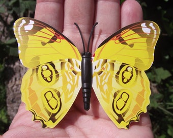 1 BUTTERFLY DECORATION, REFRIGERATOR DECOR. MAGNETIC MULTICOLOR YELLOW. 1, 8 X 6, 4 cm. NO. 4