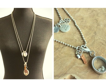 Two piece necklace with medallion!