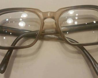 Brown vintage mens bifocals prescription glasses