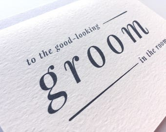 To My Groom Wedding Day Card / Future Husband  Wedding Stationery / Wedding Card Groom Gift / Wedding Keepsake Romantic Card