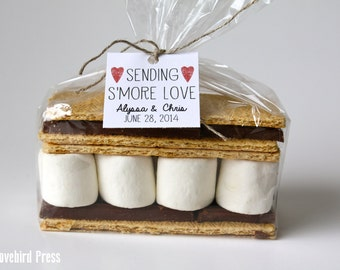 Smore Wedding Favor Tag - Rustic Personalized Printable S'more Love Wedding Favor Tag - PDF - DIY - AA4