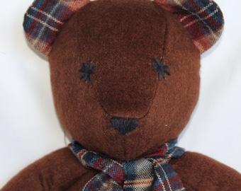100% Brown Cashmere Handmade Teddy Bear