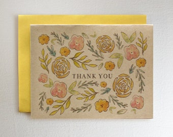 Cute Floral Thank You Card Flower